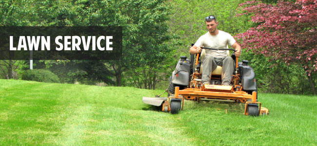 Lawn service lawn care by green leaf landscaping for Lawn and garden maintenance services